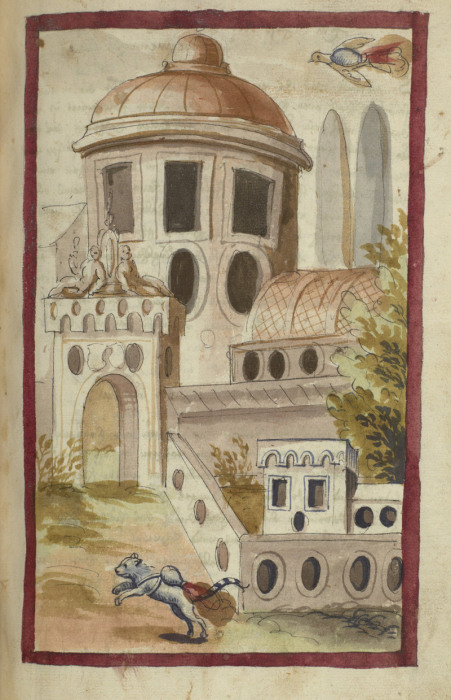 Рисунок зверей-поджигателей из манускрипта Buch von den probierten Kuensten. Бавария, 1580-е-90-е гг. | Фото: dla.library.upenn.edu.
