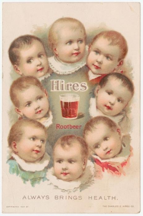 Что общего между маленькими детьми и пивом? Здоровье! | Фото: rare.library.cornell.edu.