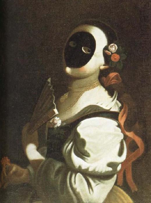 Девушка в черной маске. Художник Феличе Боскаратти. | Фото: suckhoedoisong.vn.