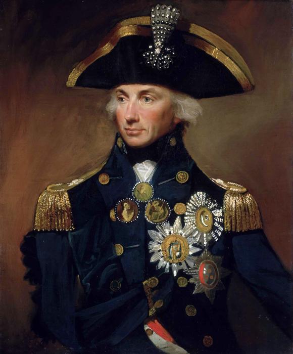 Портрет контр-адмирала Горацио Нельсона авторства Лемюэля Фрэнсиса Эбботта.