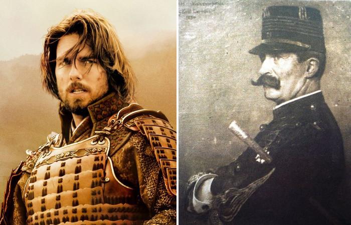 Том Круз в роли самурая и его исторический прототип.