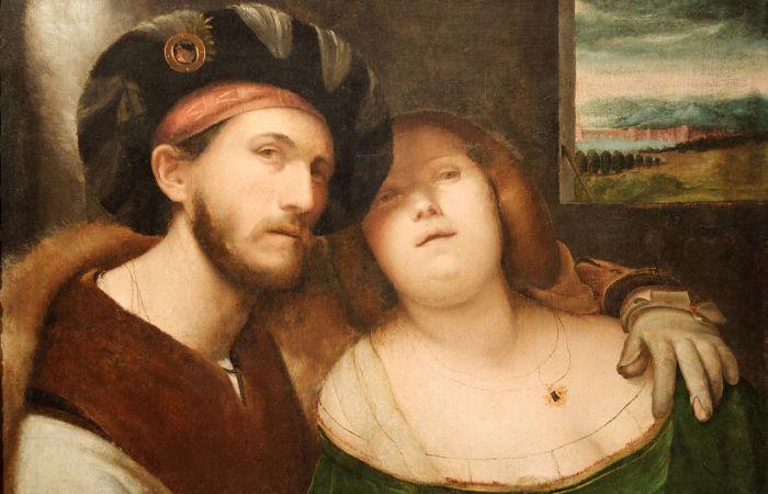 Влюбленная пара. Альтобелло Мелоне, I пол. XVI в. | Фото: commons.wikimedia.org.