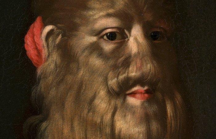 Фрагмент портрета бородатой женщины Барбары ван Бек. | Фото: youtube.com.