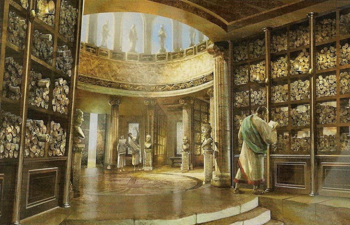 Александрийская библиотека – средоточие знаний Древнего мира.   Фото: xexe.club.