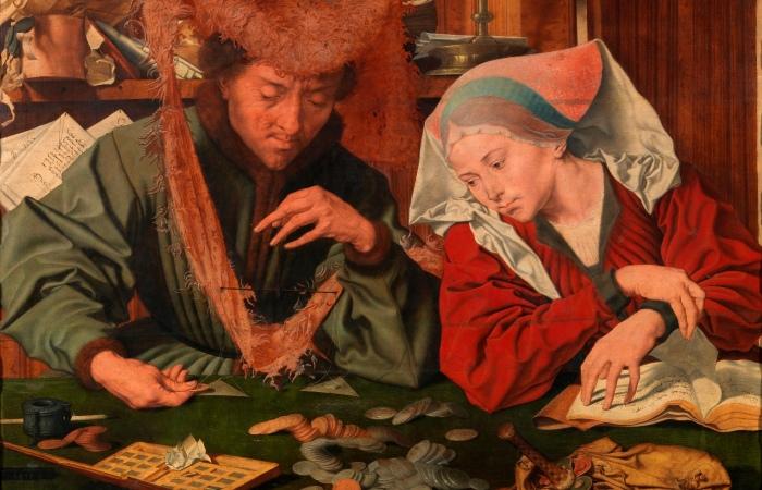 Меняла и его жена. Маринус ван Реймерсвале, 1539 год. | Фото: upload.wikimedia.org.