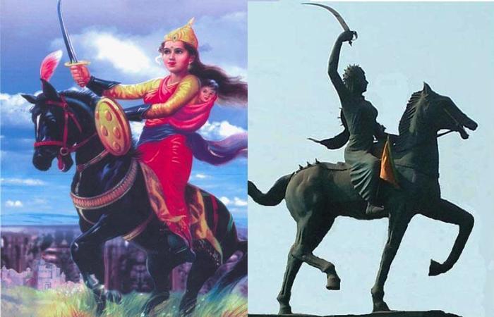 Рани Лакшми Баи – национальная героиня Индии.   Фото: fan.lib.ru.