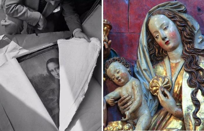 Предметы искусства, спасенные во Второй мировой войне.