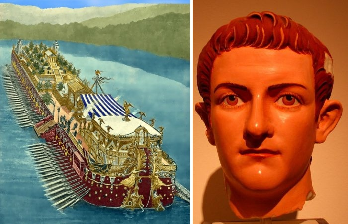 Император Калигула и его «корабль для удовольствий».