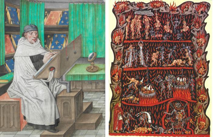 Писец XV века за работой.