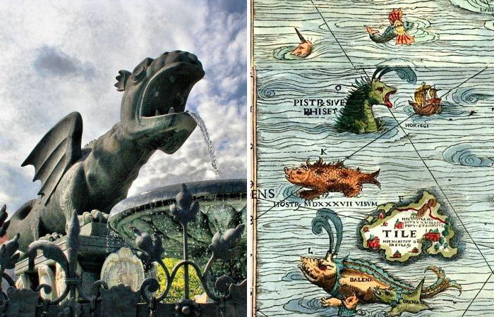 Средневековых драконов можно увидеть и сегодня.
