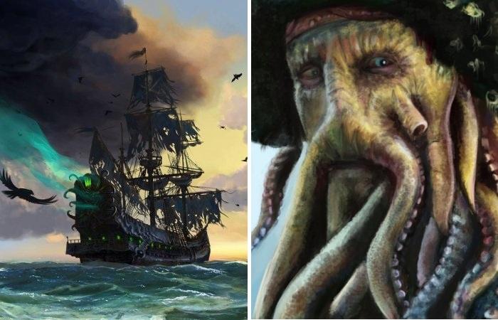 Корабль-призрак «Летучий голландец» и его страшный капитан.