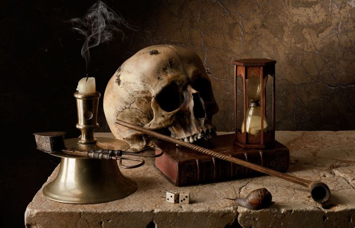 «Тщетность бытия»: череп на фотографии Кевина Беста. | Фото: liveinternet.ru.