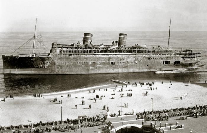 «Морро Касл» - пассажирский лайнер, ставший аттракционом ужасов.   Фото: korabley.net.