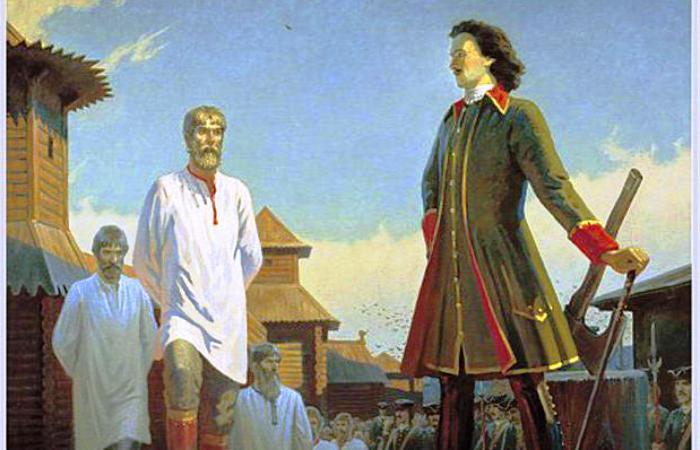 Петр I на казни. | Фото: xrest.ru.