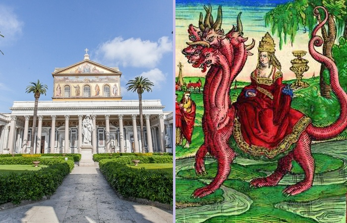 Католическая базилика Святого Павла - предвестник прихода Зверя Апокалипсиса.