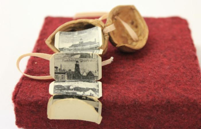 Крошечная книга путешествий с фотографиями штата Мэн, США. Начало ХХ века.