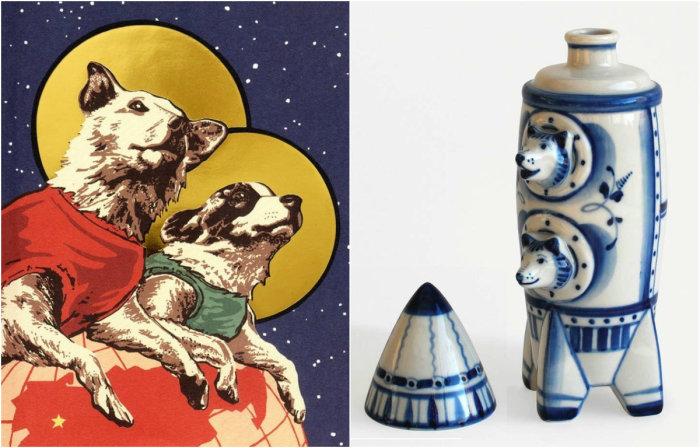 Белка и Стрелка - космические собаки СССР.