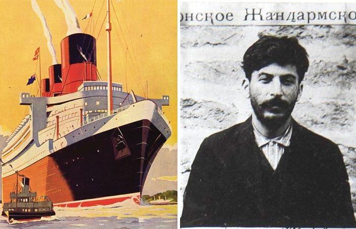 Иосиф Сталин по кличке Коба – вероятный грабитель черноморских пароходов.
