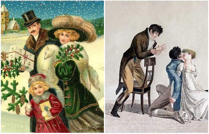 Традиции и развлечения на Рождество в викторианской Англии.
