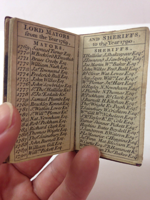 Справочник-альманах, опубликованный в Лондоне в 1790 году.