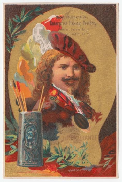 Знаменитый художник Рембрандт рекламирует муку. | Фото: rare.library.cornell.edu.
