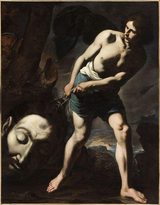 Давид с головой Голиафа. Андреа Ваккаро, 1635 год. | Фото: en.wikipedia.org.