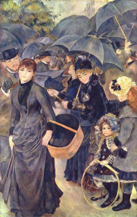 Зонтики. Пьер Огюст Ренуар, 1881-1886 гг. | Фото: ru.wikipedia.org.