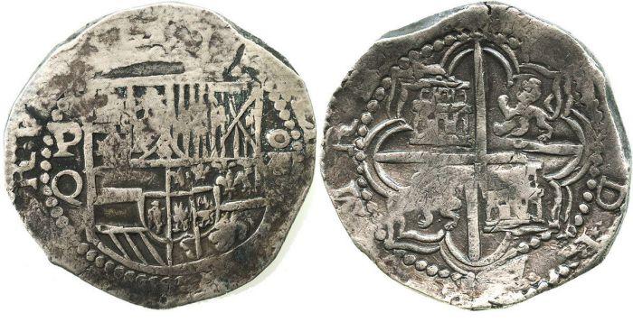 Испанская монета в 8 реалов, сделанная из боливийского серебра. | Фото: icollector.com.