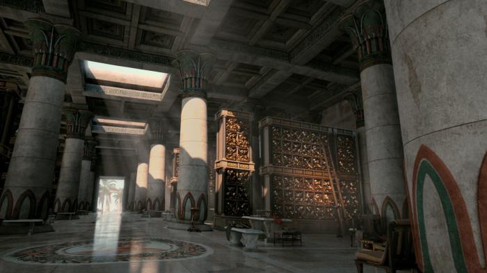 В книгохранилище Александрийской библиотеки. | Фото: jp.pinterest.com.
