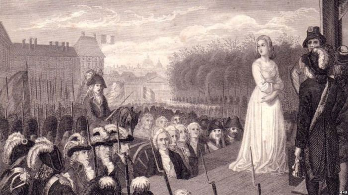 Королева Франции Мария-Антуанетта перед казнью. | Фото: svoboda.org.