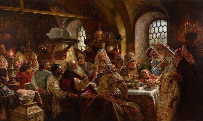 Боярский свадебный пир. Маковский К.Е., 1883 год.