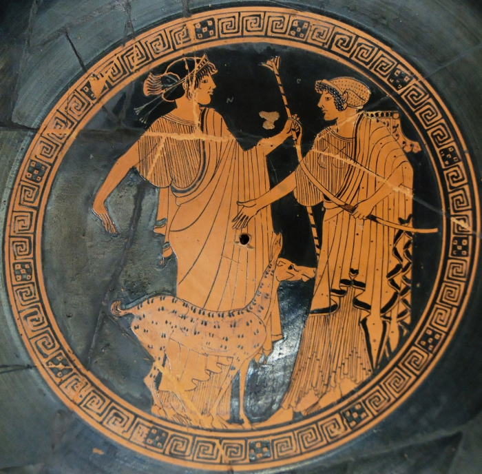 Аполлон и Артемида. 470 г. до н.э.   Фото: en.wikipedia.org.