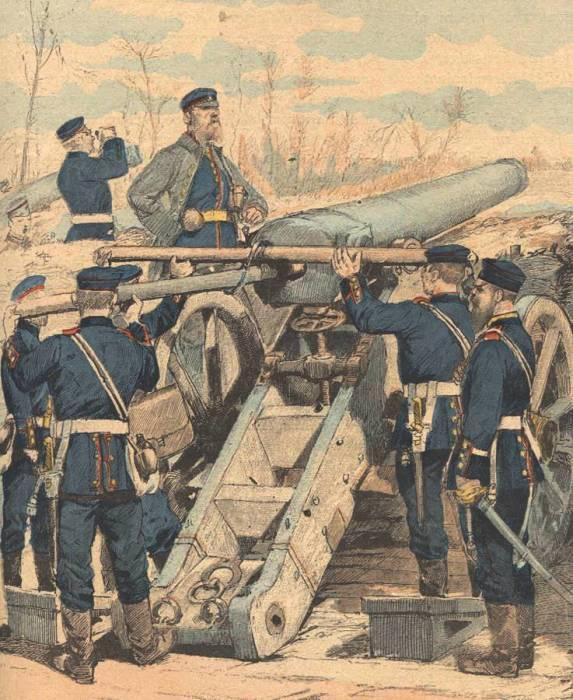 Немецкая артиллерия обстреливает французские позиции. | Фото: miniaturasmilitaresalfonscanovas.blogspot.com.