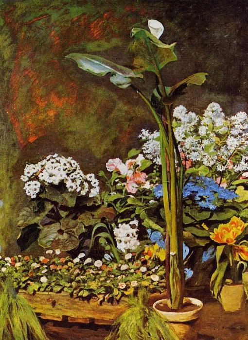 Арум и оранжерейные растения. Пьер Огюст Ренуар, 1864 г. | Фото: ru.wikipedia.org.