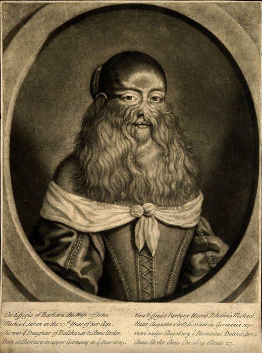 Гравюра в стиле меццо-тинто с портретом Барбары ван Бек. G. Scott, XVII век. | Фото: wellcomecollection.org.