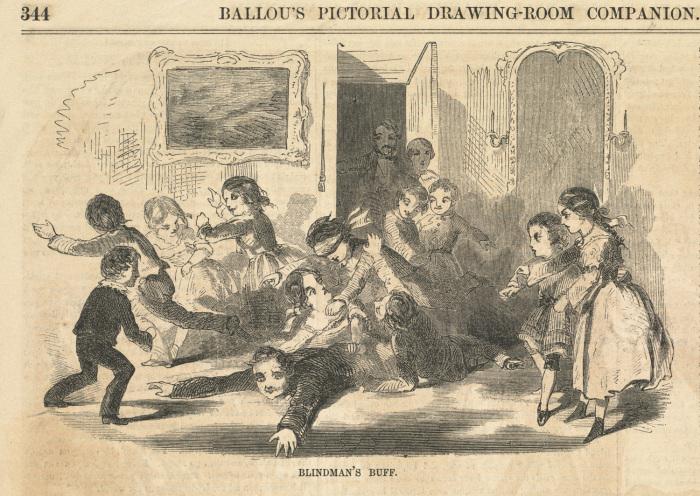 Игра в жмурки. Рисунок Хомера Уинслоу, 1857 год. | Фото: flickr.com.