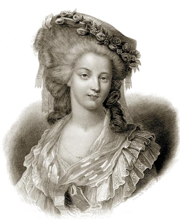 Мадам де Ламбаль. Гравюра XIX века. | Фото: ru.wikipedia.org
