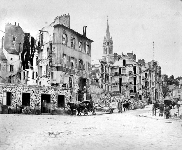 Пригород Парижа Сен-Клу после бомбардировки. Октябрь 1870 года. | Фото: fr.wikipedia.org.