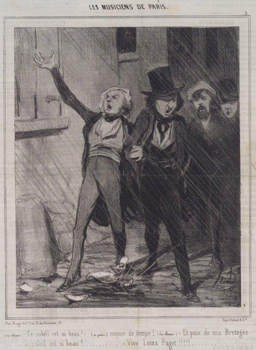 Пьяные парижане поют серенаду под окнами новобрачных. | Фото: upload.wikimedia.org.