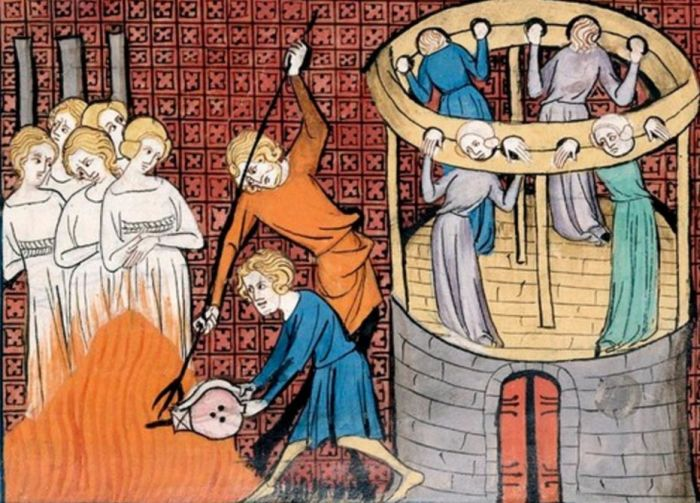 Сжигание ведьм на костре, XIV век. | Фото: ancient-origins.net.