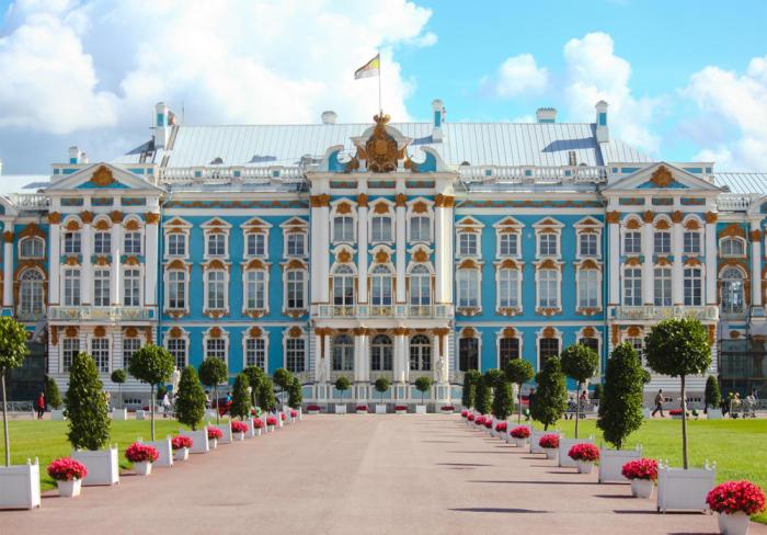 Екатерининский дворец в Царском Селе. | Фото: voyage-hotel.spb.ru.