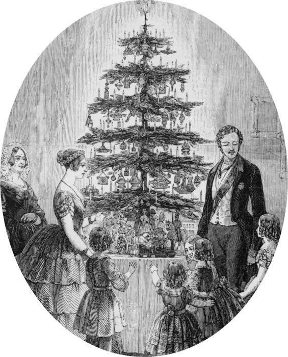 Виктория и Альберт встречают Рождество в кругу семьи в Виндзорском замке. Рождественский спецвыпуск The Illustrated London News, 1848 год. | Фото: regencyhistory.net.