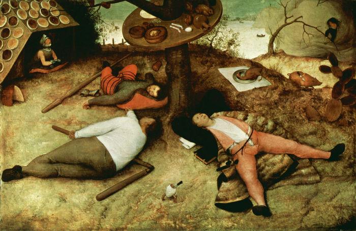 Питер Брейгель Старший. «Страна лентяев», 1567. | Фото: en.wikipedia.org.