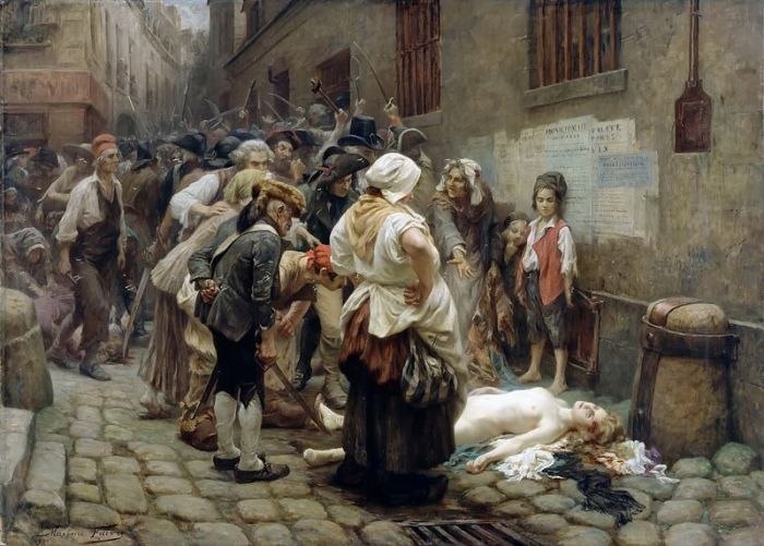 Смерть принцессы де Ламбаль. Lеon Maxime Faivre, 1908. | Фото: fr.wikipedia.org.
