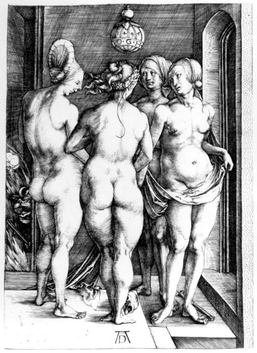 Четыре ведьмы. Альбрехт Дюрер, 1497 г. | Фото: commons.wikimedia.org.