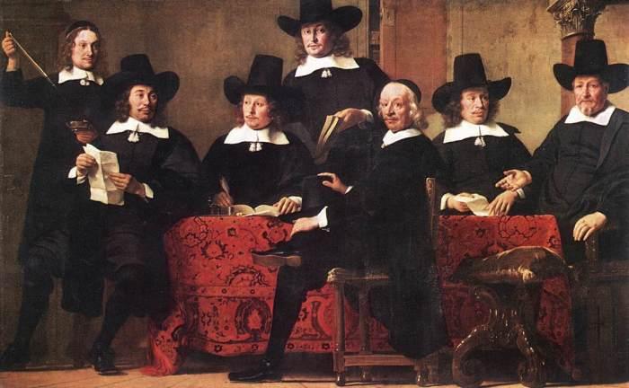 Управляющие винной торговой гильдией. Фердинанд Боль, 1680 год. | Фото: en.wikipedia.org.
