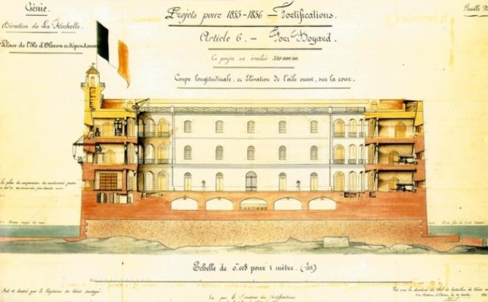 Старая схема форта, 1854 год. | Фото: fan-fortboyard.fr.