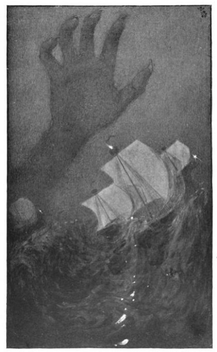 Рука Сатаны, хватающая судно. Томас Уэнтворт Хиггинсон, 1911 год. | Фото: ru.wikipedia.org.