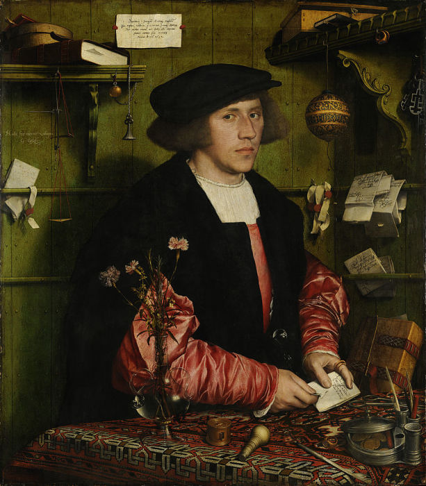 Портрет Георга Гизе, ганзейского купца из Данцига. Ганс Гольбейн, 1532 год. | Фото: en.wikipedia.org.