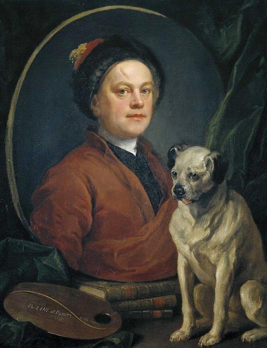 Уильям Хогарт – английский художник сатирик и писатель. Автопортрет, 1745 год. | Фото: letteraturaartistica.blogspot.com.